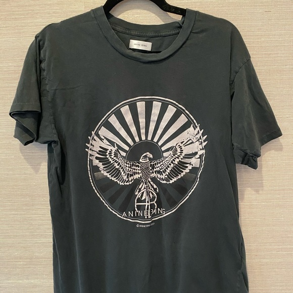 Anine Bing RARE black washed T-shirt